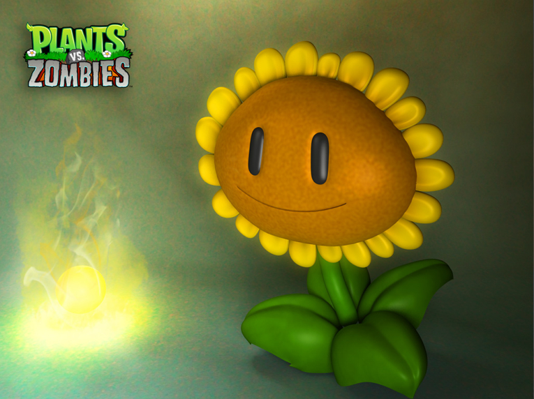 sunflower plants vs c4d free