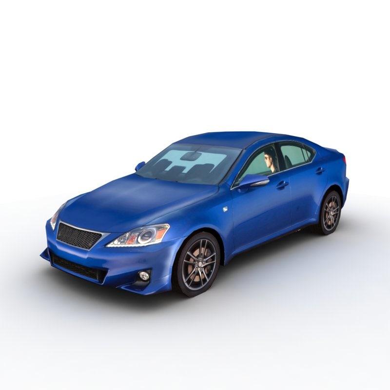 lexus is-f 2011 3d model
