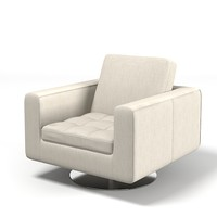 Natuzzi Savoyr tufted chair armchair swivel club modern contemporary