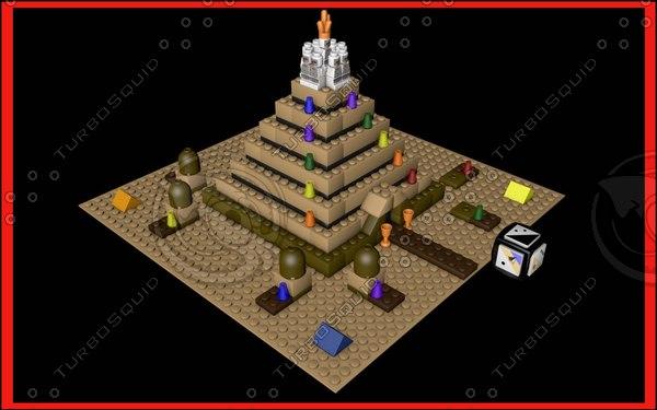 free lego ramses pyramid 3d model
