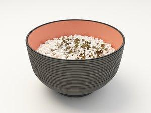 rice bowl 3d max