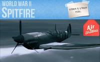 world war airplane spitfire obj