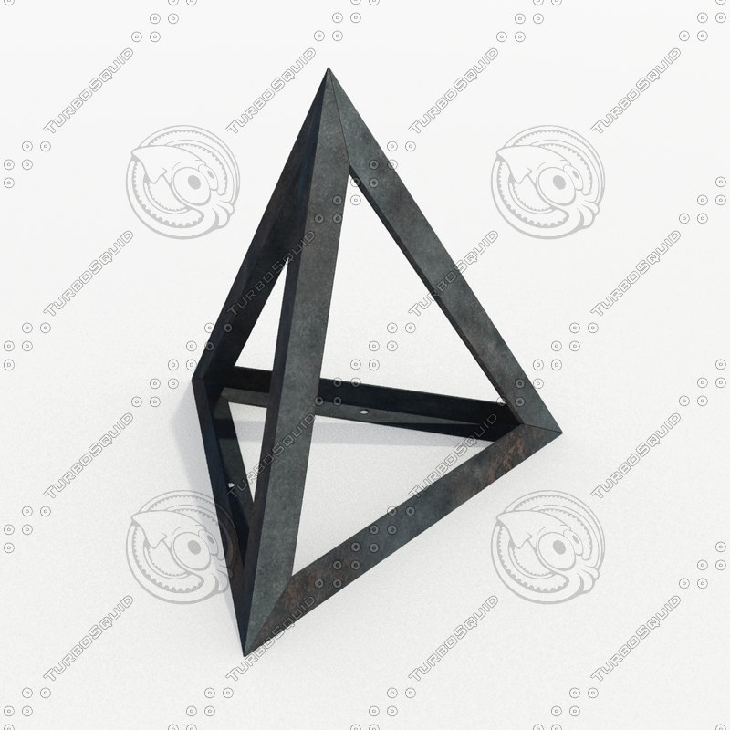 3d model barriers - tetraeder obstacle