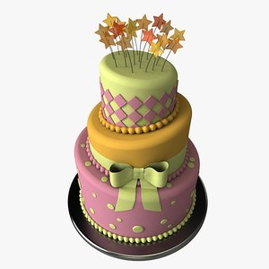 3ds stylized cake