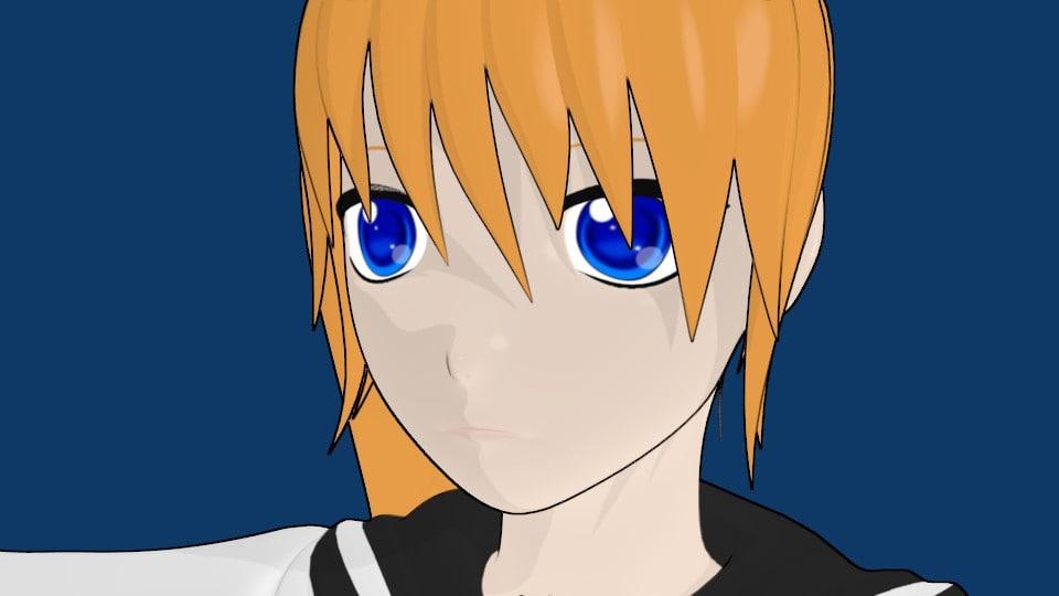 3d anime character girl model
