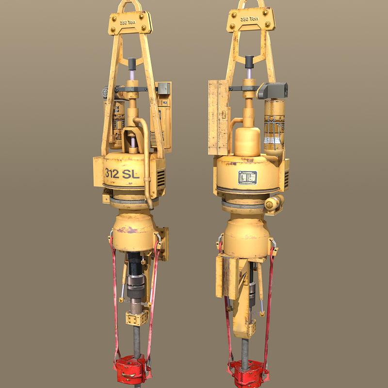 derrick component drive drilling 3d model