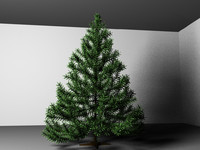 christmas tree decorations 3d obj