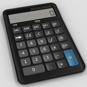 3d model desk calculator
