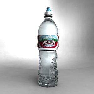 3d model arrowhead water bottle