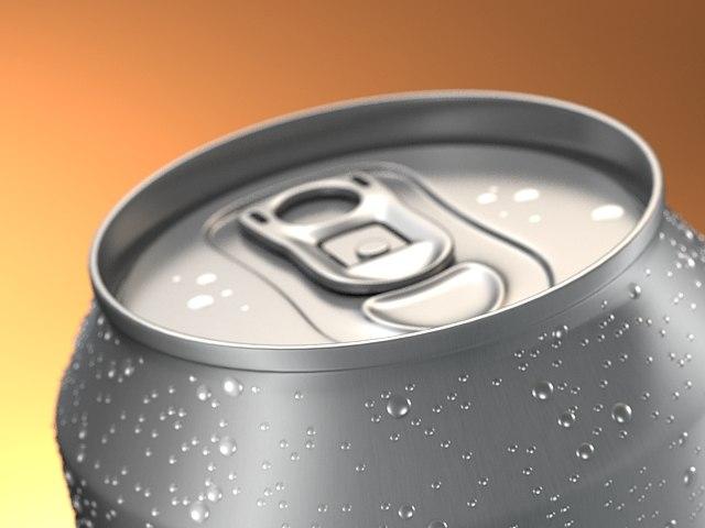 aluminum beverage 3d model