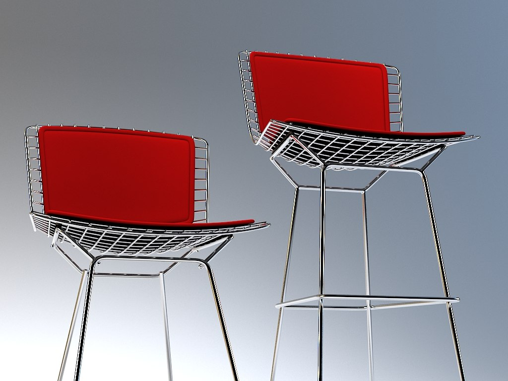 3d chair bar bertoia