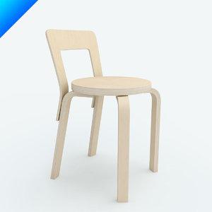 chair 65 3d c4d