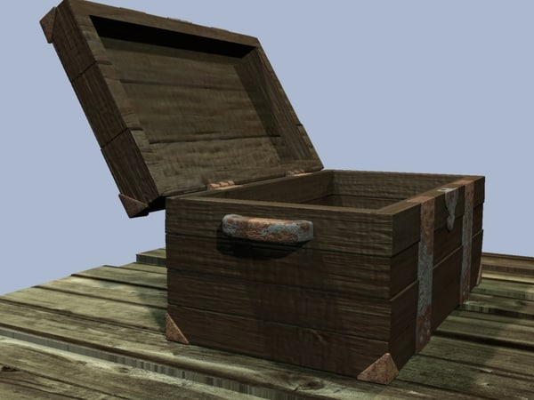 old treasure chest 3d 3ds