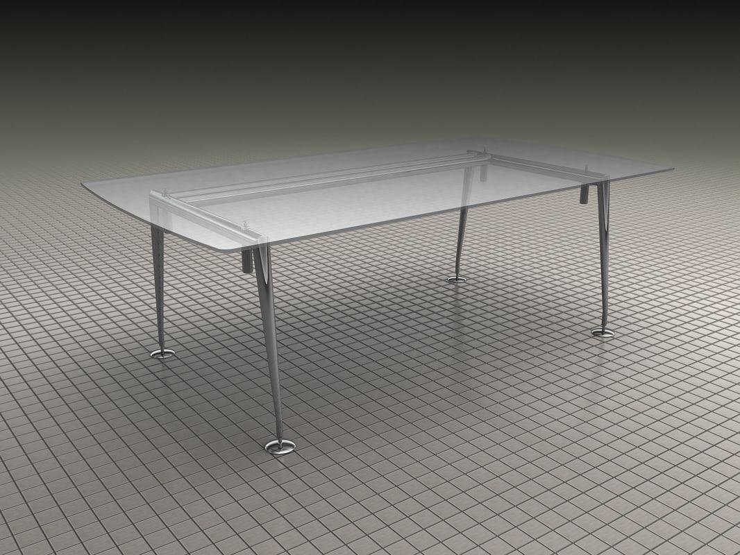 glass table chrome feet ma
