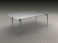 glass table chrome feet ma