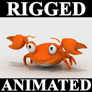 3d model crab animation character
