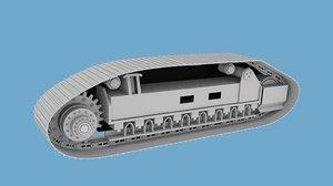 crawler tracks 3d model