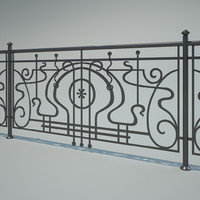 iron fence 3d 3ds