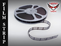 3d film strip reel model
