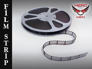 3d film strip reel model
