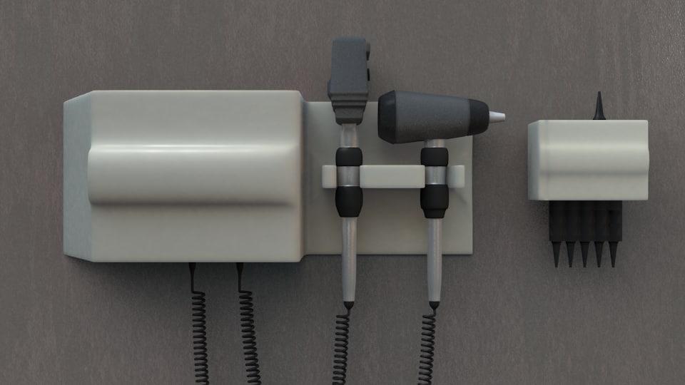 3dsmax otoscope examinations ear