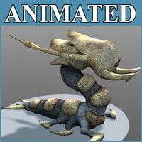 fantasy wurm animation 3d max
