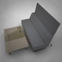 modern sofa - bix 3d model