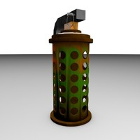 cinema4d military flash grenade