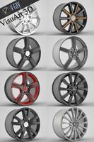 3d mercedes cls rim model