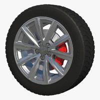 auto rim wheel 3d c4d