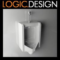 3d model urinal
