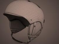- snowboard helmet 3d model