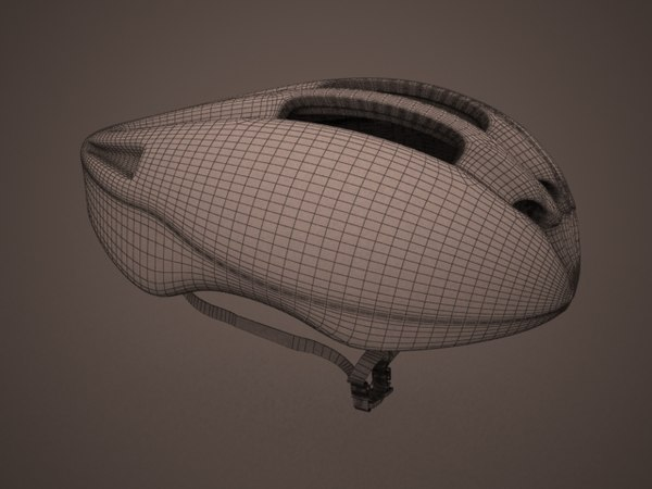 3dsmax - bike helmet