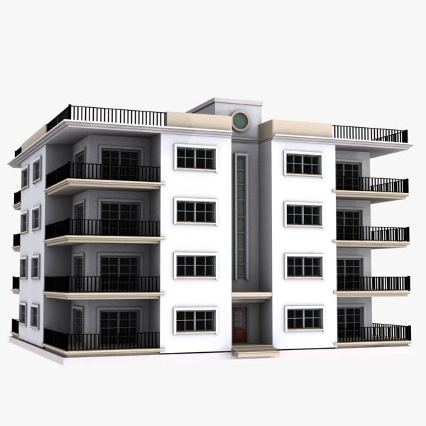 3d model apartment house for Apartment 3d model