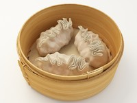 3d model shrimp dumplings