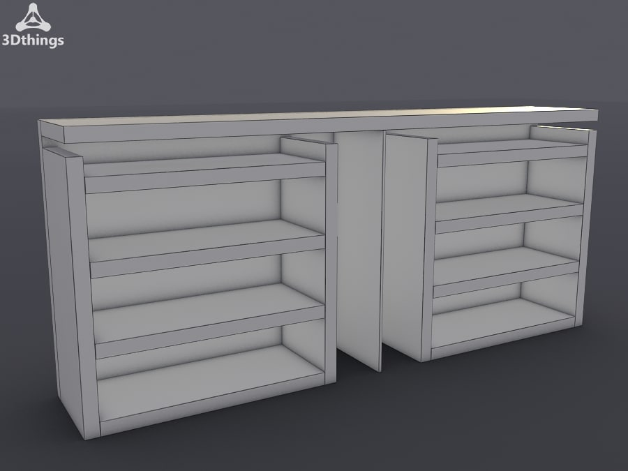 free stand closet 3d model