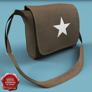 3dsmax army olive bag