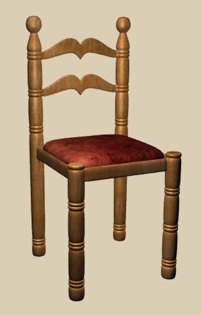 3d kitchen chair classic