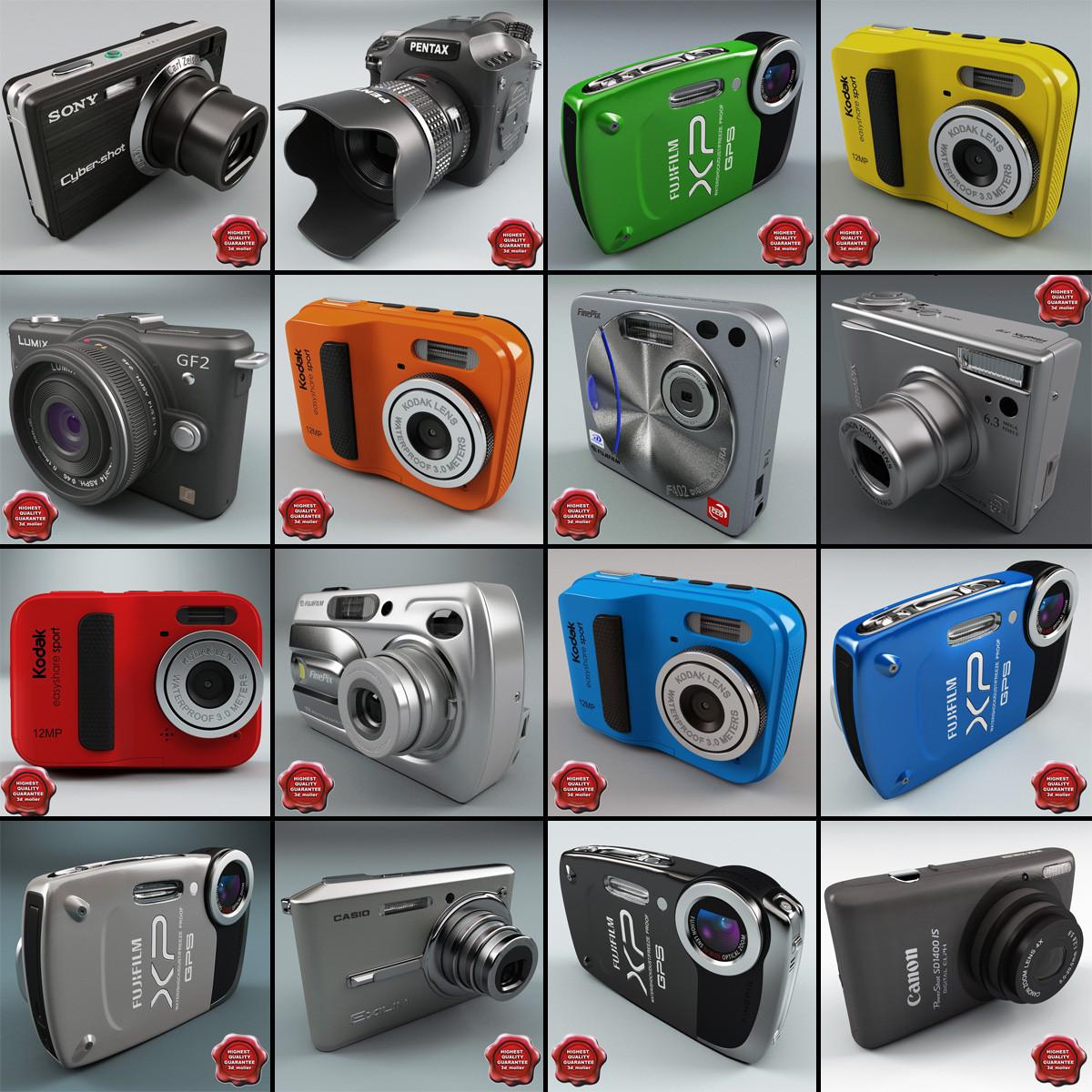 3d model digital cameras v8