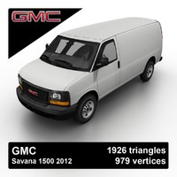 3d model 2012 gmc savana 1500