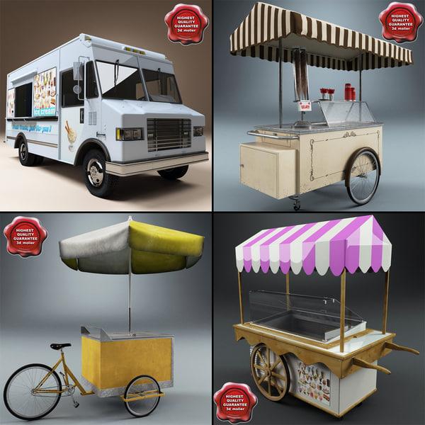ice cream carts obj