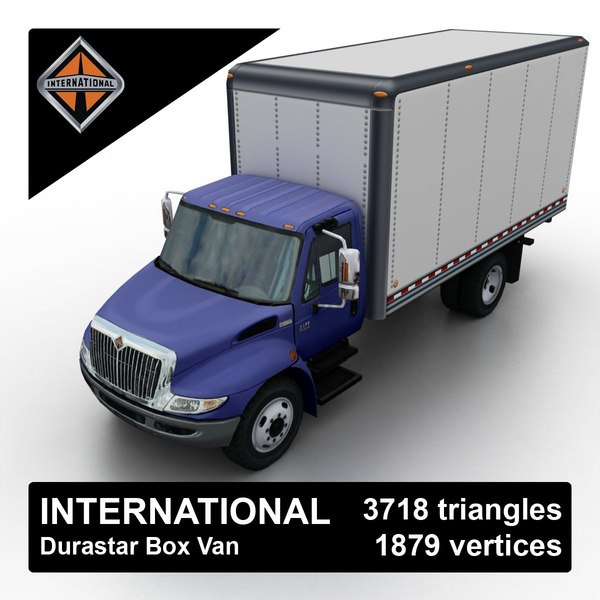 international durastar box van 3d model
