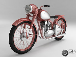 3d model motorcycle java