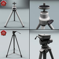 tripods set modelled 3d 3ds