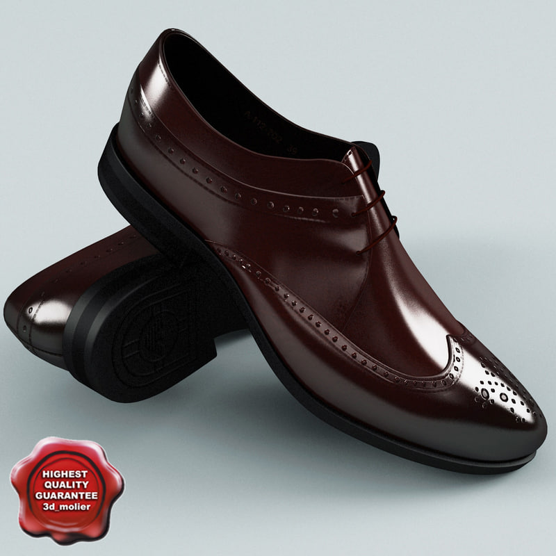 man shoes armani c4d