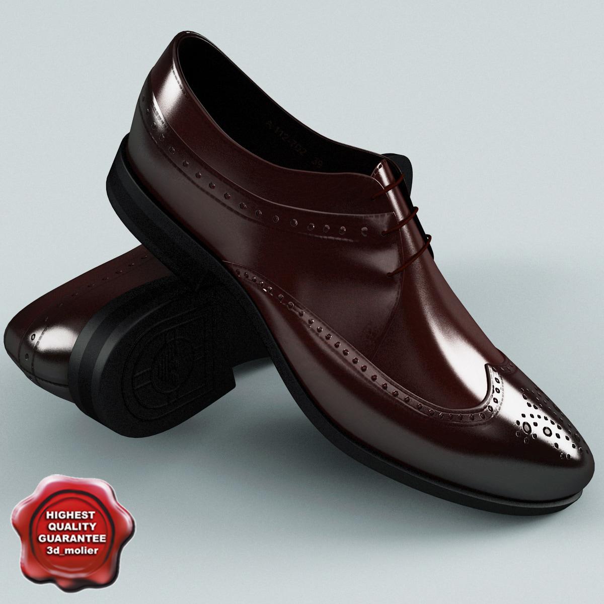 man shoes armani c4d