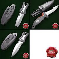 oceanic spinner knives 3d model