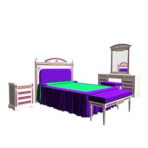 3ds ropesa bedroom bed