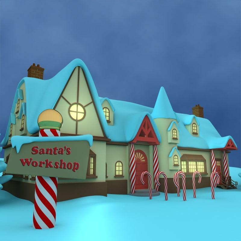 3d santas workshop