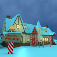 3d santas workshop